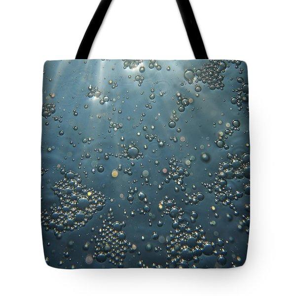 Underwater Bubbles Tote Bag