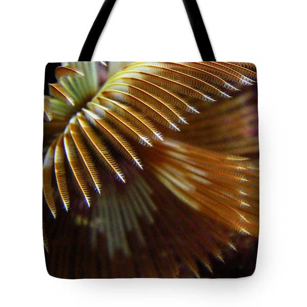 Underwater Feathers Tote Bag