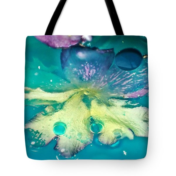 Underwater Flower Abstract 10 Tote Bag by Lorella Schoales