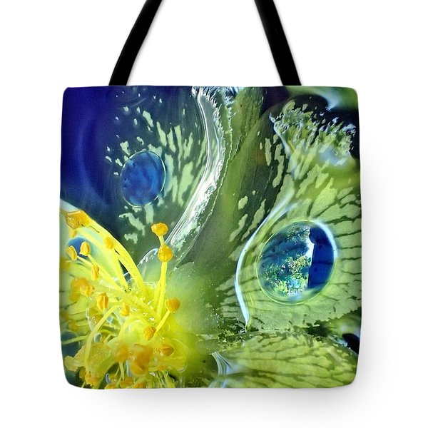Underwater Flower Abstraction 1 Tote Bag by Lorella Schoales