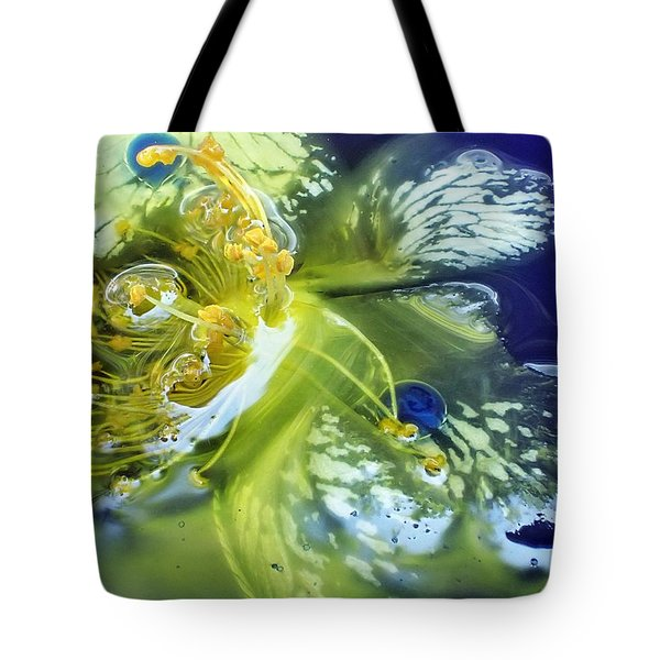 Underwater Flower Abstraction 2 Tote Bag by Lorella Schoales