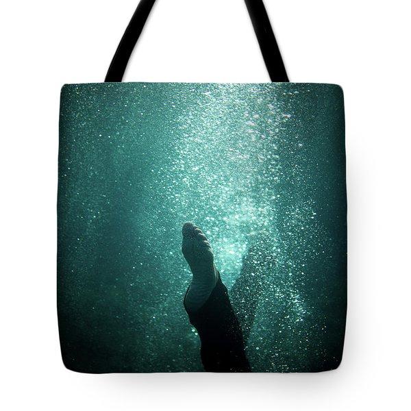 Underwater Foot Tote Bag