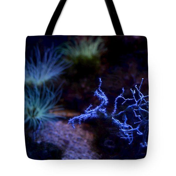 Tote Bag featuring the digital art Underwater Landscape by Leo Symon