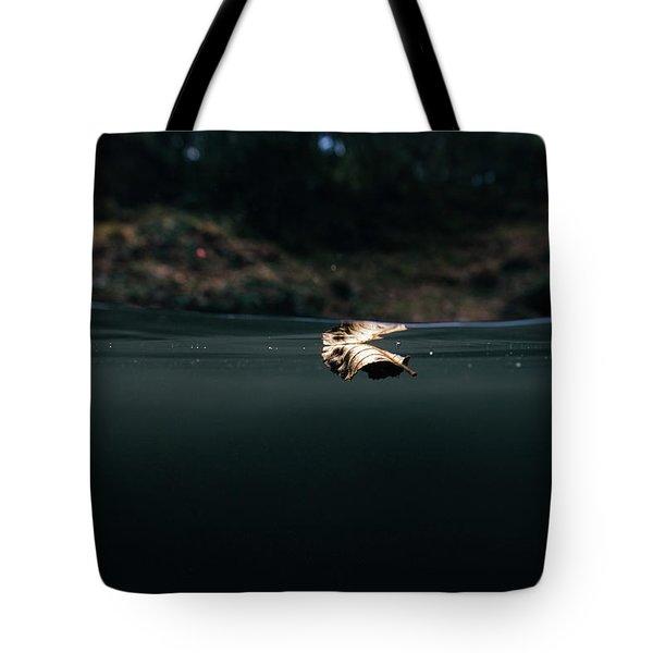 Underwater Leaf Tote Bag