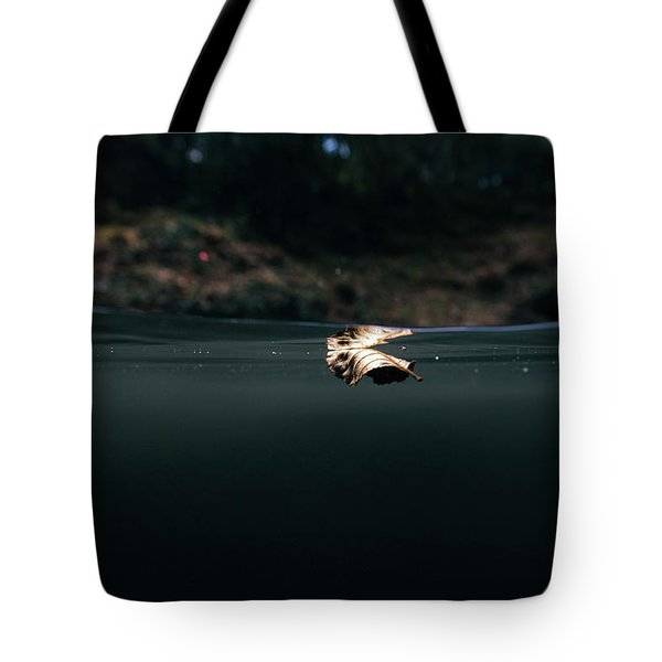 Underwater Leaf Tote Bag