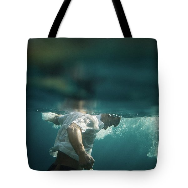 Underwater Man Tote Bag