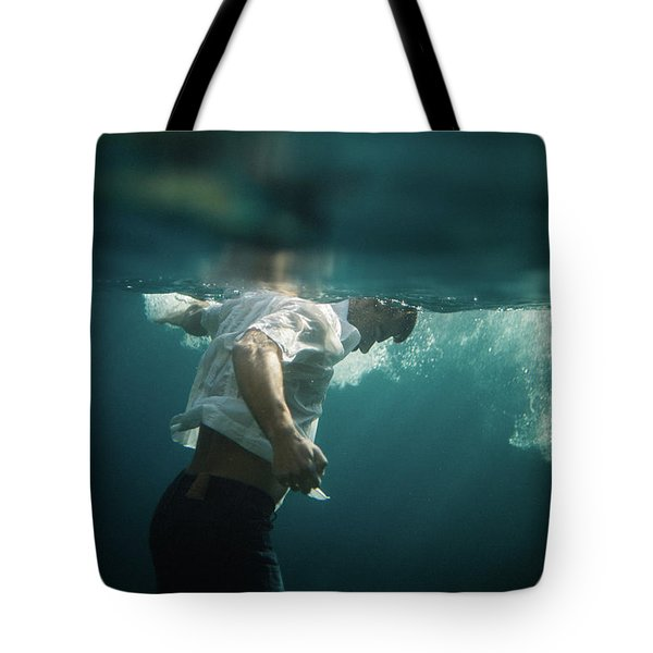 Underwater Man Tote Bag