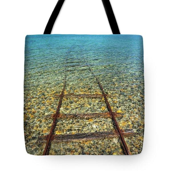 Underwater Railroad Tote Bag