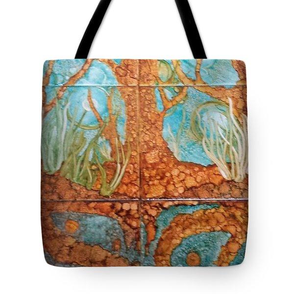 Underwater Trees Tote Bag