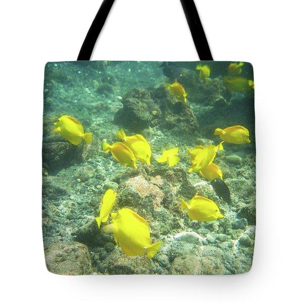 Underwater Yellow Tang Tote Bag