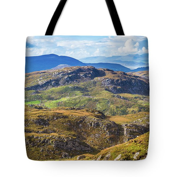 Tote Bag featuring the photograph Undulating Landscape In Kerry In Ireland by Semmick Photo