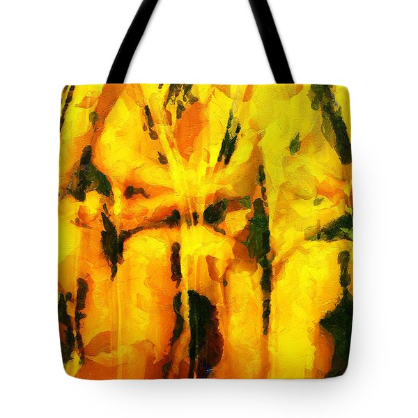 Tote Bag featuring the painting Une Histoire D Amour Derriere Bouteilles by Sir Josef - Social Critic - ART