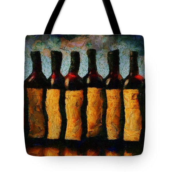 Tote Bag featuring the painting Une Histoire D Amour En Bouteille by Sir Josef - Social Critic - ART