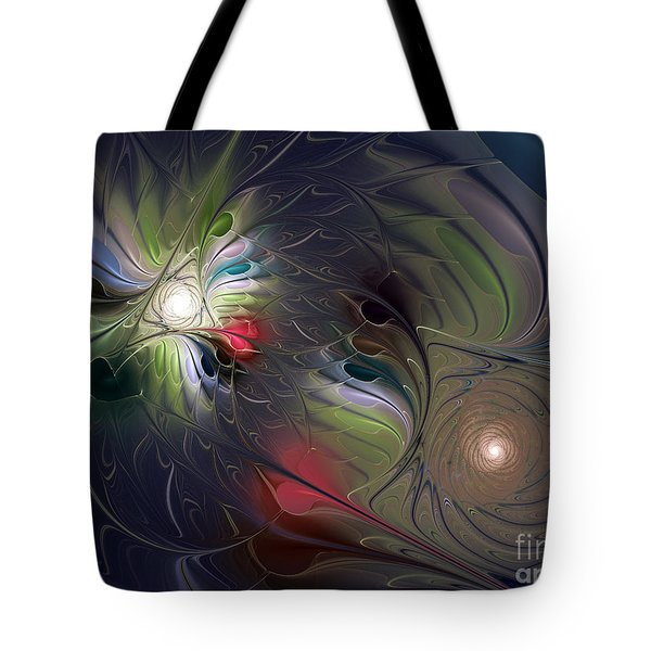 Tote Bag featuring the digital art Unfading by Karin Kuhlmann