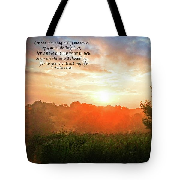 Tote Bag featuring the photograph Unfailing Love by Kerri Farley