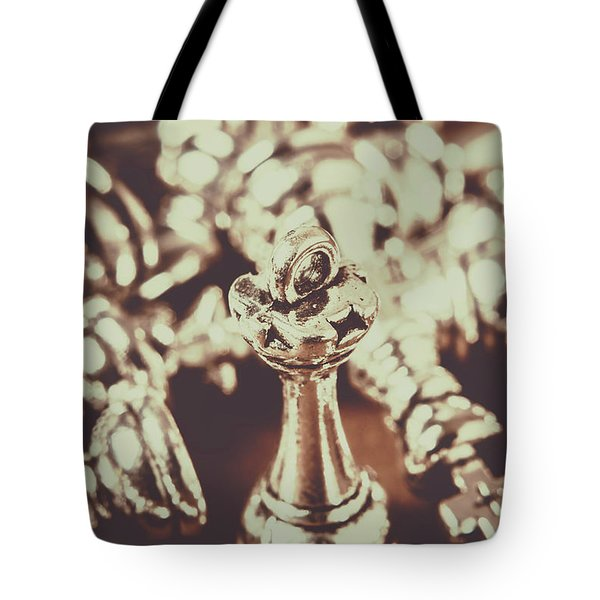 Tote Bag featuring the photograph Unfallen Tower Of The Chess Game by Jorgo Photography - Wall Art Gallery