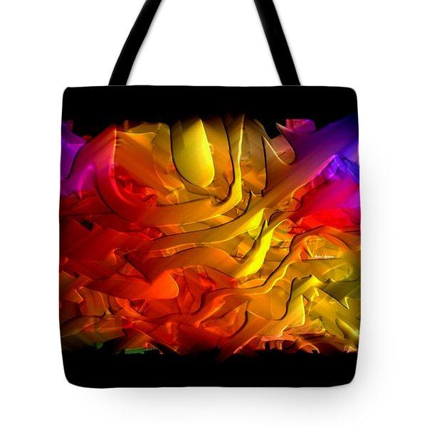 Tote Bag featuring the digital art Unfolding Dream by Rafael Salazar