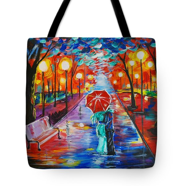 Unforgettable Kiss Tote Bag by Leslie Allen