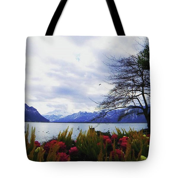 Unforgettable Swiss Lac Leman Tote Bag