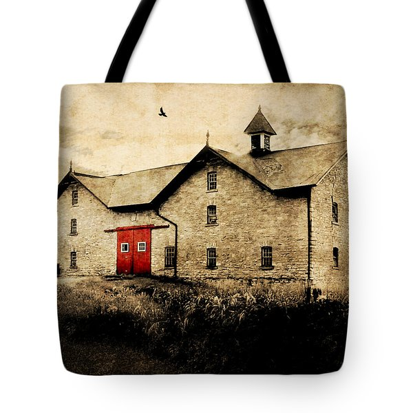 Uni Barn Tote Bag by Julie Hamilton