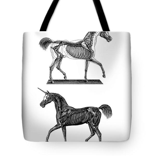 Unicorn Anatomy Tote Bag