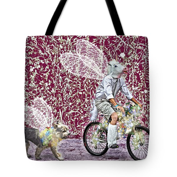 Unicorn And Doggie Fairies Tote Bag