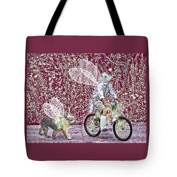 Unicorn And Doggie Fairies Tote Bag