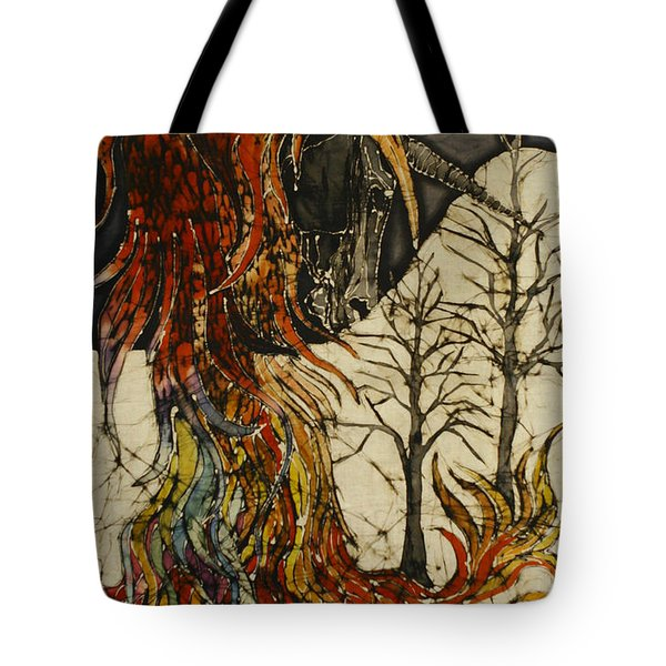 Unicorn And Phoenix Tote Bag