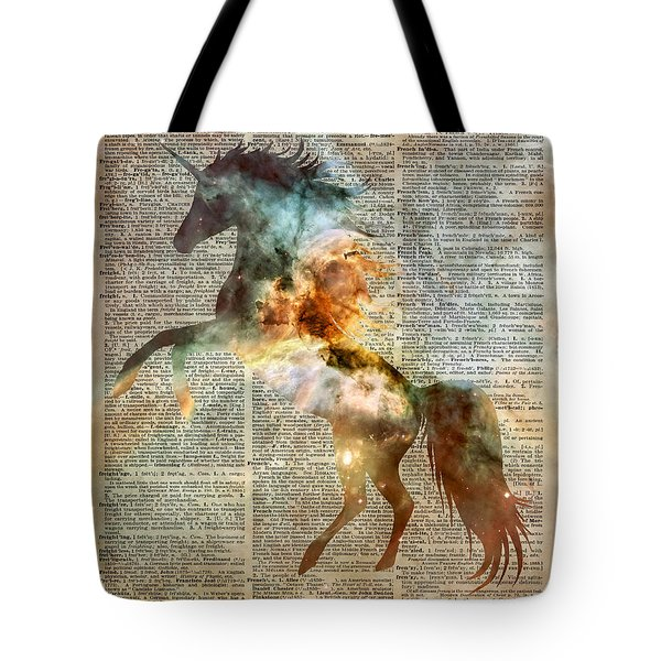 Unicorn Carina Nebula Tote Bag