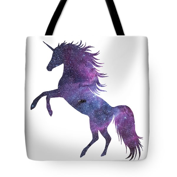 Unicorn In Space-transparent Background Tote Bag