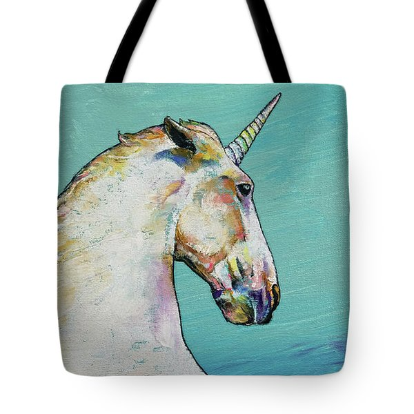 Unicorn Tote Bag by Michael Creese