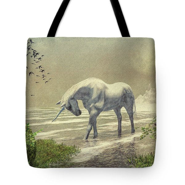 Unicorn Moon Tote Bag by Bob Orsillo