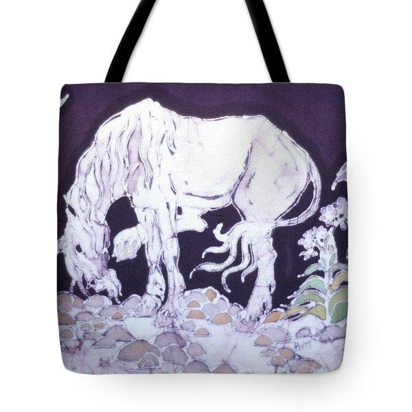 Unicorn Pauses Tote Bag by Carol  Law Conklin