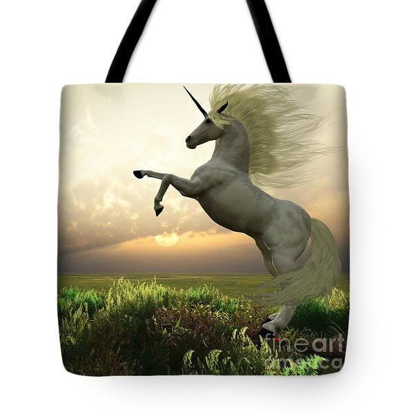 Unicorn Stag Tote Bag by Corey Ford