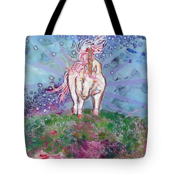 Unicorn Tears Tote Bag by Kimberly Santini