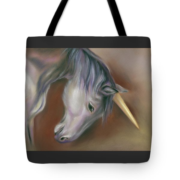 Unicorn With A Golden Horn Tote Bag