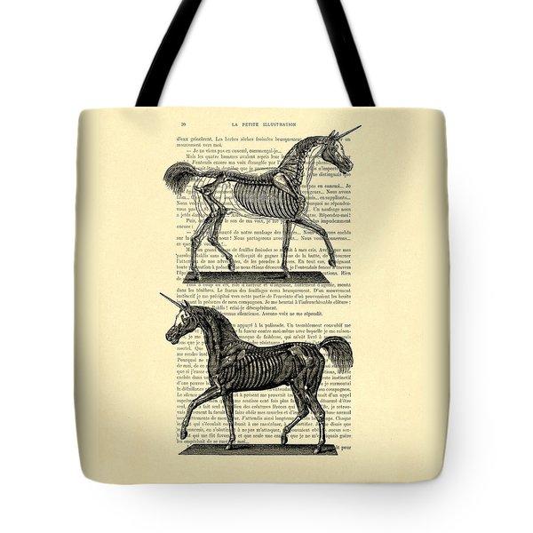 Unicorns Anatomy Tote Bag by Madame Memento