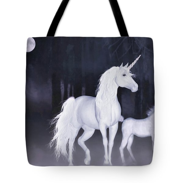 Unicorns In The Mist Tote Bag