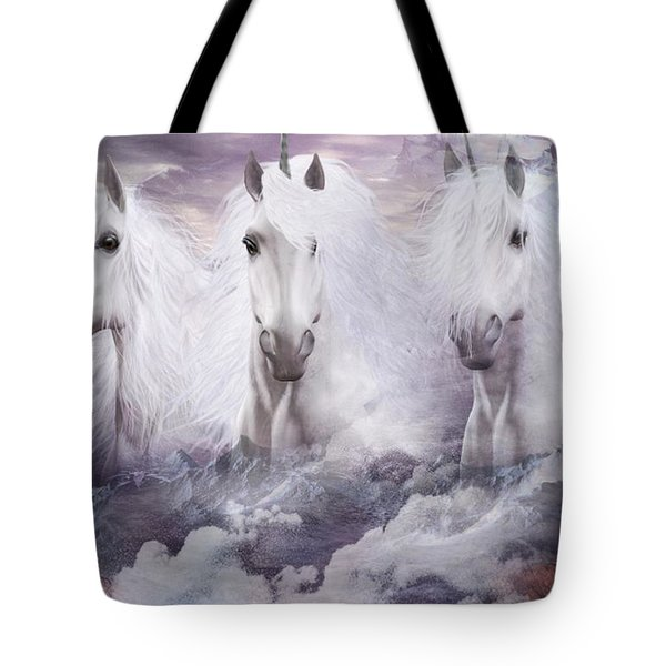 Unicorns Of The Mountains Tote Bag