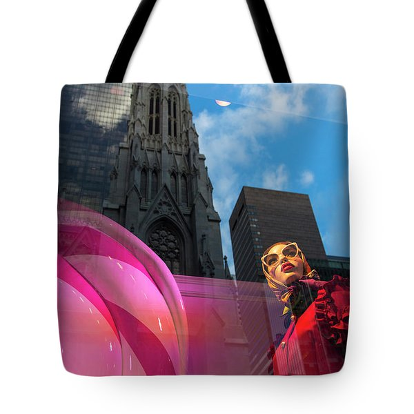 Tote Bag featuring the photograph Unimpressed In New York by Alex Lapidus