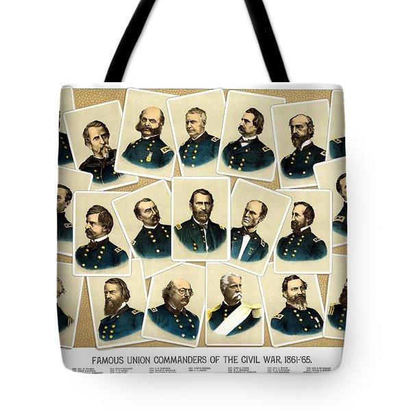 Union Commanders Of The Civil War Tote Bag