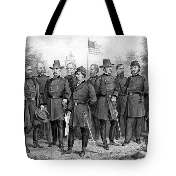 Union Generals Of The Civil War  Tote Bag by War Is Hell Store