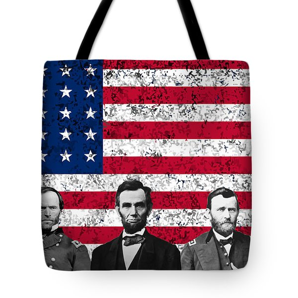 Union Heroes And The American Flag Tote Bag