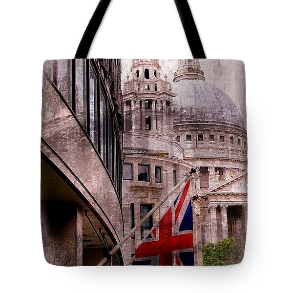 Union Jack By St. Paul's Cathdedral Tote Bag