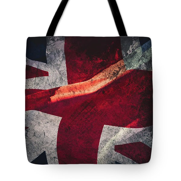 Union Jack Fine Art, Abstract Vision Of Great Britain Flag Tote Bag