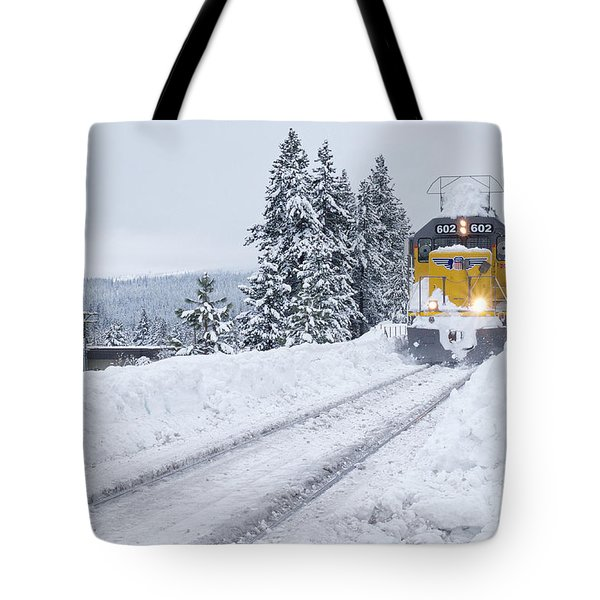 Tote Bag featuring the photograph Union Pacific #602 by Vinnie Oakes