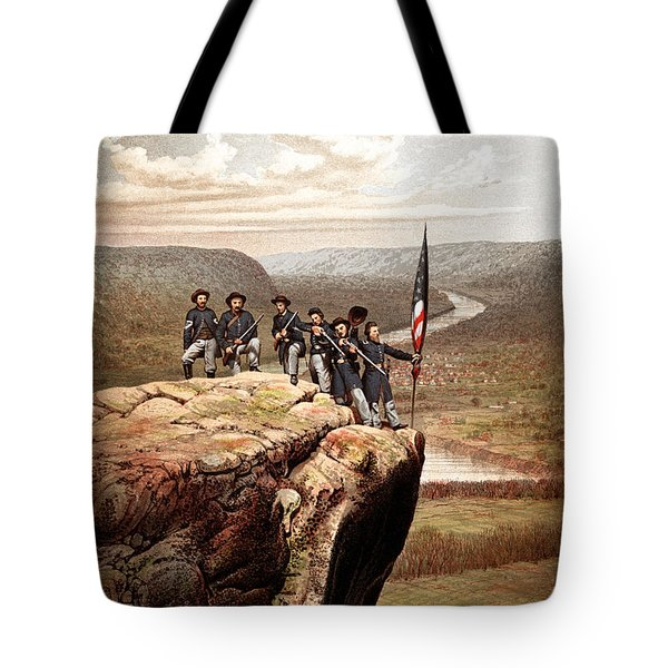 Union Soldiers On Lookout Mountain Tote Bag by War Is Hell Store