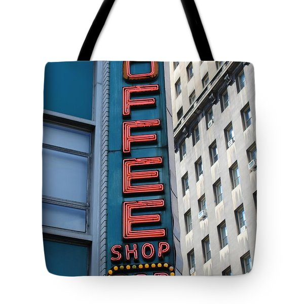 Union Square Coffee Shop Sign Tote Bag