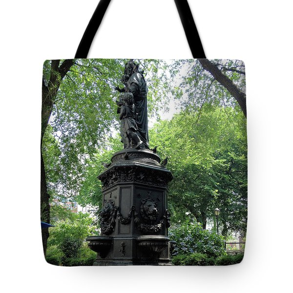 Tote Bag featuring the photograph Union Square Park Water Fountain by Iowan Stone-Flowers
