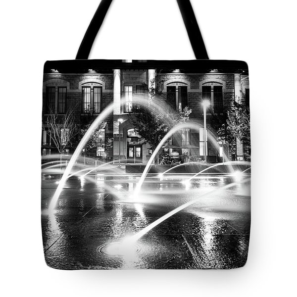 Tote Bag featuring the photograph Union Station Fountains by Stephen Holst